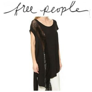 NWT Free People Wind Chaser Tunic Black